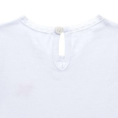Imagem 3 do produto Blusinha para bebe em cotton Branca - Charpey - CY21302.101 BLUSA COTTON ML BRANCO-M