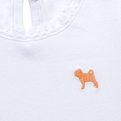 Imagem 2 do produto Blusinha para bebe em cotton Branca - Charpey - CY21302.101 BLUSA COTTON ML BRANCO-1