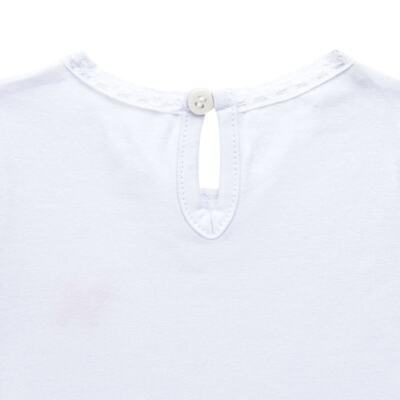 Imagem 3 do produto Blusinha para bebe em cotton Branca - Charpey - CY21302.101 BLUSA COTTON ML BRANCO-3