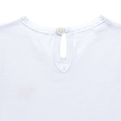 Imagem 3 do produto Blusinha para bebe em cotton Branca - Charpey - CY21302.101 BLUSA COTTON ML BRANCO-G