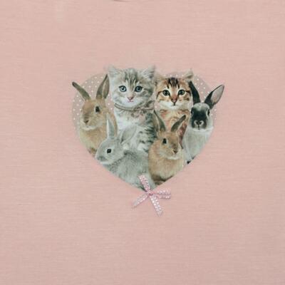 Imagem 2 do produto Blusinha para bebe em viscolycra Cats & Rabbits - Baby Classic - 016961 BLUSINHA M/L VISCOLYCRA PET PRINT-3