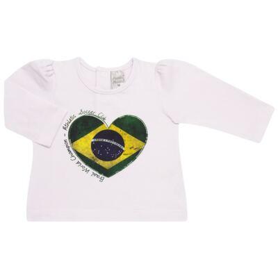 Imagem 1 do produto Blusinha manga longa para bebe em cotton Brasil - Baby Classic - 078353 BLUSINHA ML COTTON COPA-GG