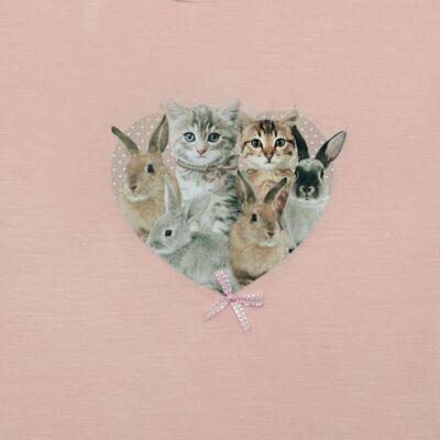 Imagem 2 do produto Blusinha para bebe em viscolycra Cats & Rabbits - Baby Classic - 016961 BLUSINHA M/L VISCOLYCRA PET PRINT-G