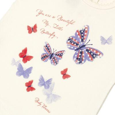 Imagem 2 do produto Blusinha para bebe em viscolycra Butterflies - Baby Classic - 6711629 BLUSINHA BASICA FEM. VISCOLYCRA BUTTERFLY 2 -M