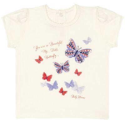 Imagem 1 do produto Blusinha para bebe em viscolycra Butterflies - Baby Classic - 6711629 BLUSINHA BASICA FEM. VISCOLYCRA BUTTERFLY 2 -1