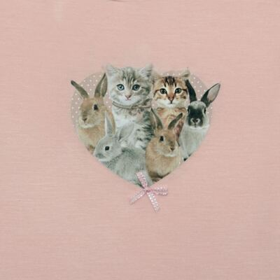 Imagem 2 do produto Blusinha para bebe em viscolycra Cats & Rabbits - Baby Classic - 016961 BLUSINHA M/L VISCOLYCRA PET PRINT-M