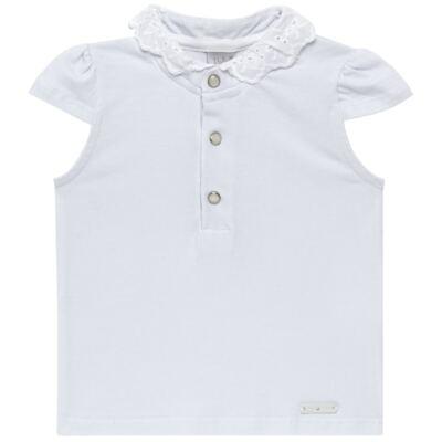 Imagem 1 do produto Blusinha para bebe em cotton Branca - Baby Classic - 21751445 BLUSINHA M/C GOLA COTTON CLÁSSICO-1