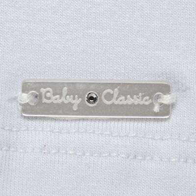 Imagem 3 do produto Blusinha para bebe em cotton Branca - Baby Classic - 21751445 BLUSINHA M/C GOLA COTTON CLÁSSICO-1