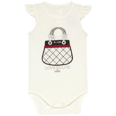 Imagem 2 do produto Body curto com Shorts para bebe em cotton algodão egípcio Love Cute  - Mini & Kids - CJSH0001.233 BODY C/MANGA BAB.E SHORTS - COTTON-P