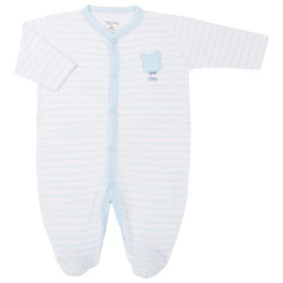 Imagem 1 do produto Macacão longo para bebe em suedine Ursinho - Tilly Baby - TB183700 MACACAO LONGO MASC URSO GRAVATA-RN