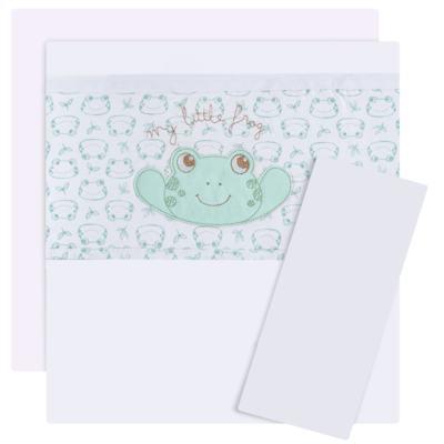 Imagem 1 do produto Jogo de lençol para berço em malha Sapinho - Classic for Baby - JLE0005.226 JOGO DE LENCOL DE BERÇO - MALHA SAPINHOS