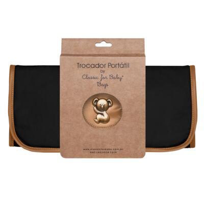 Imagem 2 do produto Trocador Portátil para bebe Adventure Preto- Classic for Baby Bags - TCSA9045 TROCADOR ADVENTURE SARJA PRETO
