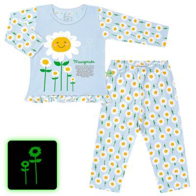 Imagem 1 do produto Pijama longo que Brilha no Escuro Little Daisies - Cara de Criança - L2073 MARGARIDA L PJ-LONGO M/MALHA -4
