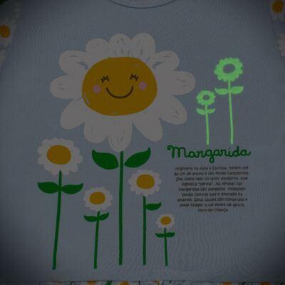Imagem 4 do produto Pijama longo que Brilha no Escuro Little Daisies - Cara de Criança - L2073 MARGARIDA L PJ-LONGO M/MALHA -2