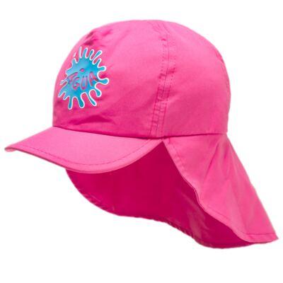 Imagem 2 do produto Boné c/ proteção em microfibra Pink - Cara de Criança - CH1316 BONE PINK CH CHAPEU PRAIA POLIESTER-M