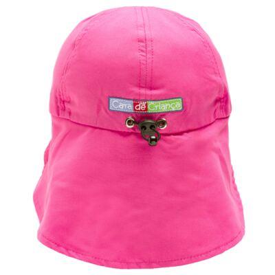 Imagem 3 do produto Boné c/ proteção em microfibra Pink - Cara de Criança - CH1316 BONE PINK CH CHAPEU PRAIA POLIESTER-M