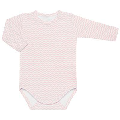 Imagem 3 do produto Pack 2 Bodies longos para bebe em suedine Ovelhinha Rosa - Petit - 10424344 PACK 2 BODIES M/L SUEDINE OVELHA FEM-P