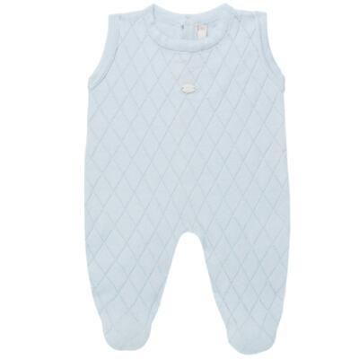 Imagem 3 do produto Jardineira c/ Body longo em tricot Bleu - Petit