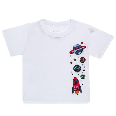 Imagem 2 do produto Conjunto de Banho para bebe Galaxy: Camiseta + Sunga - Cara de Criança - KIT 1 2578: SBB2578+CCAB2578 SUNGA E CAMISETA ESPACIAL-M