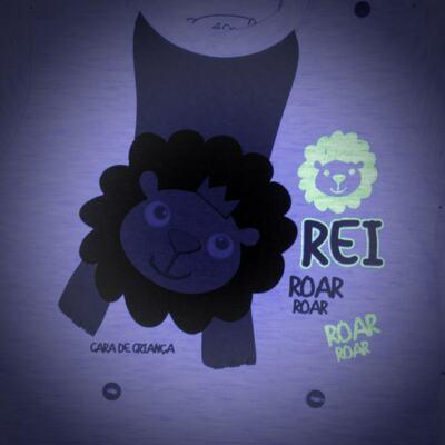 Imagem 4 do produto Pijama curto que Brilha no Escuro Lion - Cara de Criança - BC1943 REI LEÃO BC PJ - BB CURTA C/CALÇA M/MALHA-P