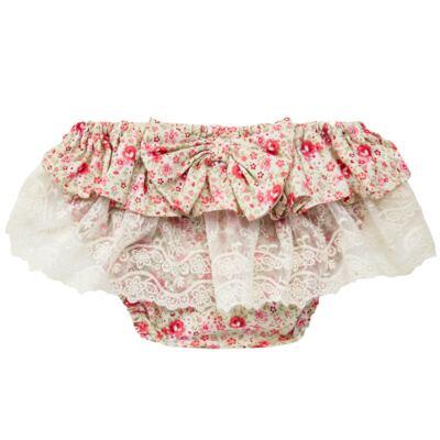 Imagem 2 do produto Conjunto de banho para bebê Liberty: Bumbum + Chapéu - Roana - BSR00900973 BANHO DE SOL C/ RENDA 3737 FLORAL/LARANJA-M