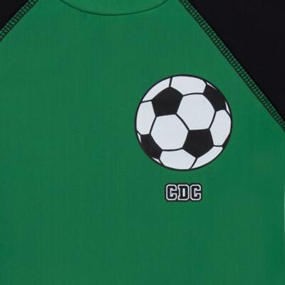 Imagem 3 do produto Conjunto de Banho Football: Camiseta surfista + Sunga - Cara de Criança - KIT 1 2529: SB2529+CSA2529 SUNGA E CAMISETA FUTEBOL-2