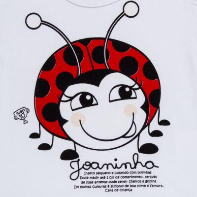 Imagem 6 do produto Pijama curto para bebe que Brilha no Escuro Joaninha - Cara de Criança - U2281 JOANINHA 10 U PIJAMA CURTO M/MALHA-3