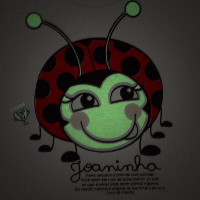 Imagem 5 do produto Pijama curto para bebe que Brilha no Escuro Joaninha - Cara de Criança - U2281 JOANINHA 10 U PIJAMA CURTO M/MALHA-1
