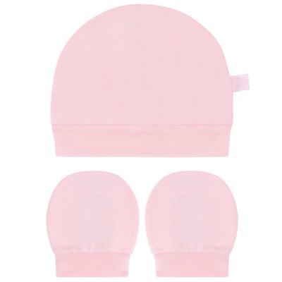 Imagem 1 do produto Kit Touca e Luva para bebe em suedine Rosa - Tilly Baby - TB13114.10 GORRO E LUVA DE SUEDINE ROSA-P
