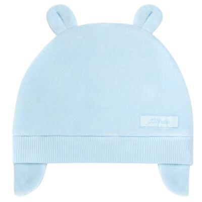 Imagem 1 do produto Touca Orelhinha para bebe em plush Azul - Tilly Baby - TB13173.09 GORRO BASICO DE PLUSH COM ORELHA AZUL-G