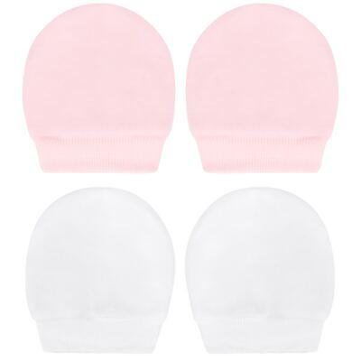Imagem 1 do produto Kit 2 Pares de luvas em suedine Branca/Rosa - Tilly Baby - TB13118.10 LUVA 2 PARES SUEDINE BRANCA/ROSA-P
