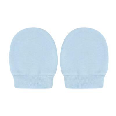 Imagem 3 do produto Kit Touca e Luva para bebe em suedine Azul - Tilly Baby - TB13114.09 GORRO R LUVA DE SUEDINE AZUL-RN