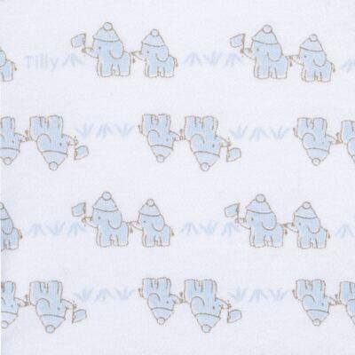 Imagem 3 do produto Conjunto Pagão Elefantinho: Casaquinho + Body longo + Calça - Tilly Baby - TB170221.01 KIT BODY CALCA E CASACO ELEFANTINHOS AZUL BEBE-RN