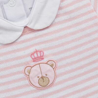 Imagem 3 do produto Conjunto Pagão Princess Bear : Casaco + Body longo + Calça (mijão) - Mini & Classic - 1994655 CONJ. PAGAO MIJAO BODY TRIC/SUED/ URSA-RN