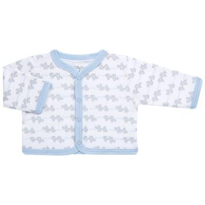 Imagem 2 do produto Conjunto Pagão Elefantinho: Casaquinho + Body longo + Calça - Tilly Baby - TB170221.01 KIT BODY CALCA E CASACO ELEFANTINHOS AZUL BEBE-M