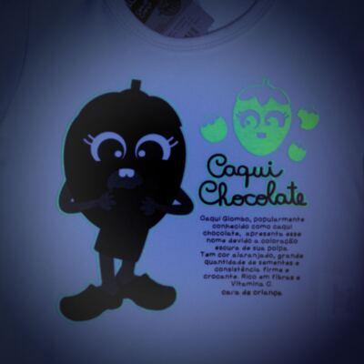 Imagem 4 do produto Pijama Curto que Brilha no Escuro Caqui Chocolate - Cara de Criança - C1912 CAQUI CHOCOLATE C PJ - MG CURTA C/CALCA M/MALHA -1