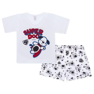 Imagem 1 do produto Pijama curto em malha Super Dog - Cara de Sono - U2462 SUPER DOG U PIJAMA-CURTO M/MALHA-2