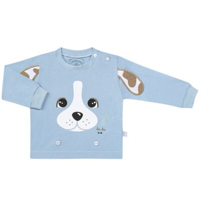 Imagem 2 do produto Pijama 4 botões que Brilha no Escuro Blue Dog - Cara de Criança - 4L2218 PET MENINO 4L PJ  BOTOES -LONGO M/MALHA-P