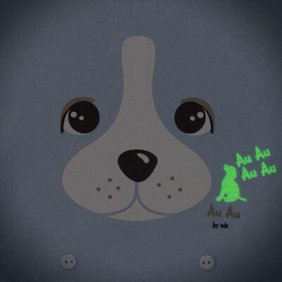 Imagem 4 do produto Pijama 4 botões que Brilha no Escuro Blue Dog - Cara de Criança - 4L2218 PET MENINO 4L PJ  BOTOES -LONGO M/MALHA-G