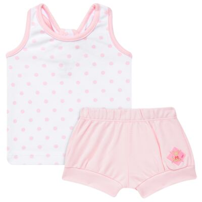 Imagem 1 do produto Regata c/ Shorts para bebe em algodão egípcio Princess - Bibe - 39G23-G79 CJ CUR F RG SH BY BIBE-GG