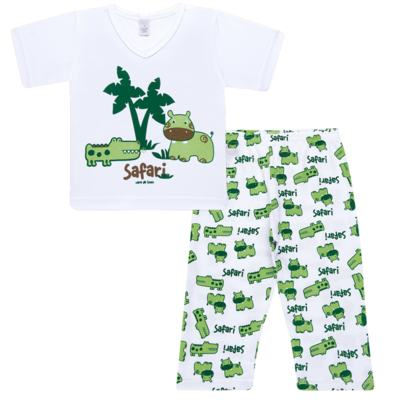 Imagem 1 do produto Pijama curto em malha Safari - Cara de Sono
