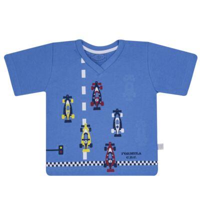 Imagem 2 do produto Pijama curto que Brilha no Escuro Fórmula 1 - Cara de Criança - U2888 FORMULA 1 U PIJAMA CURTO M/MALHA-4