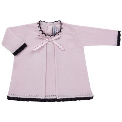 Imagem 2 do produto Vestido longo c/ Calça para bebe em tricot Anabel - Mini Sailor - 17954264 VESTIDO COM MIJAO TRICOT ROSA BEBE-0-3