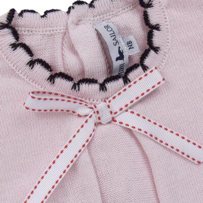 Imagem 3 do produto Vestido longo c/ Calça para bebe em tricot Anabel - Mini Sailor - 17954264 VESTIDO COM MIJAO TRICOT ROSA BEBE-0-3