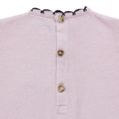 Imagem 4 do produto Vestido longo c/ Calça para bebe em tricot Anabel - Mini Sailor - 17954264 VESTIDO COM MIJAO TRICOT ROSA BEBE-0-3