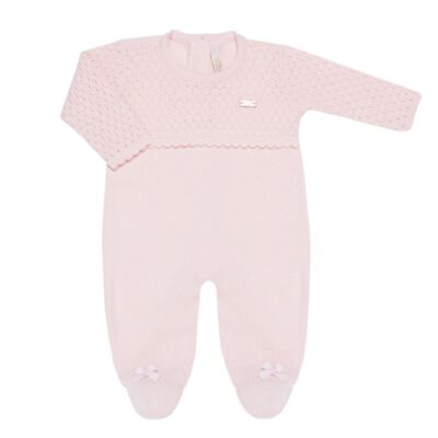 Imagem 3 do produto Jogo Maternidade com Macacão Body e Manta em tricot Rose - Petit - 47004421 Jogo Maternidade c/ Body Regata Tricot/Cot/Fu Rosa -RN