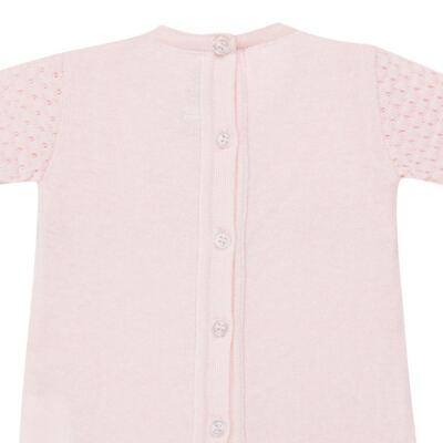 Imagem 6 do produto Jogo Maternidade com Macacão Body e Manta em tricot Rose - Petit - 47004421 Jogo Maternidade c/ Body Regata Tricot/Cot/Fu Rosa -RN