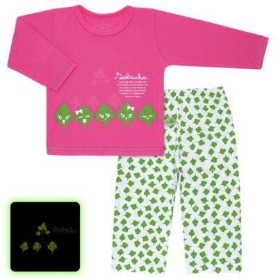 Imagem 1 do produto Pijama longo que Brilha no Escuro Salsinha - Cara de Criança - L1913 SALSINHA L PJ-LONGO M/MALHA-1
