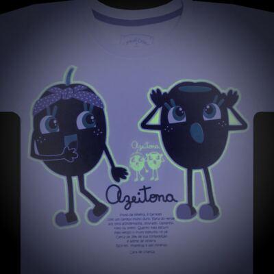 Imagem 4 do produto Pijama longo que Brilha no Escuro Azeitoninha - Cara de Criança - L1638 AZEITONA L PJ-LONGO M/MALHA-1