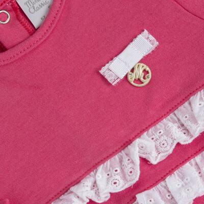 Imagem 3 do produto Jogo Maternidade com Macacão e Manta para bebe em algodão egípcio c/ jato de cerâmica Papillon - Mini & Classic - 4716658 JOGO MATERNIDADE MAC ML DET RENDA SUEDINE FLORAL NAVY-P